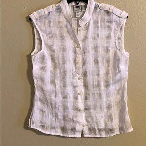 Worth linen blend top size 6